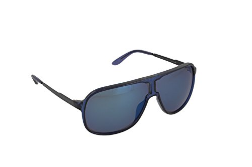 Carrera New Safari/S Sunglasses NEWSAS-0KMF-XT-6408 - Blue Frame, Blue Sky Miror Lenses, - Carrera Sunglasses Safari