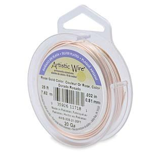30-Yards Artistic Wire 30-Gauge Silver Plated Gold Wire