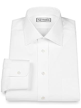 Paul fredrick men 39 s 2 ply cotton windsor spread collar for 2 ply cotton dress shirt