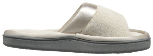 isotoner Women's Microterry Slide Slipper with Satin Trim