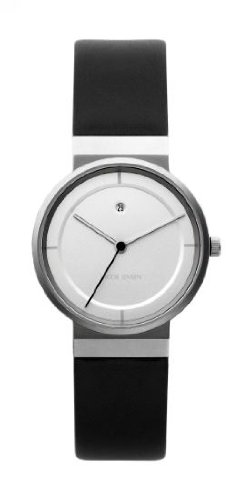 Jacob Jensen 891 Dimension Series Stainless Steel Case Black Band Silver Dial Women's Watch