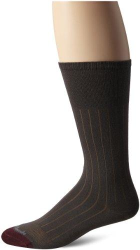 Allen Edmonds Men's Cotton Rib Mid Calf Socks, Olive, Sock Size:10-13/Shoe Size: 6-12/Standard ()