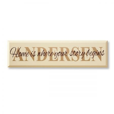 Lillian Vernon Personalized Home is Where Your Story Begins Plaque - 6