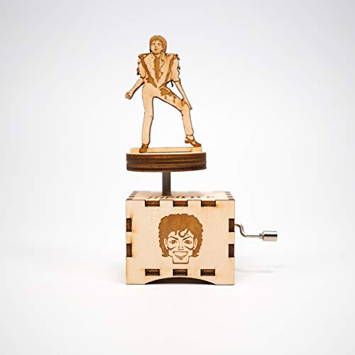 Michael Jackson Music Box - Thriller/Laser cut and laser engraved wood music box. Perfect gift, memorabilia or collectible/Halloween