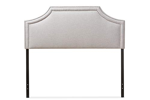 Baxton Studio Avignon Upholstered King Headboard in Grayish Beige