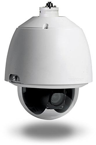 TRENDnet Indoor/Outdoor Speed Dome PoE+ IP Camera with 1.3 Megapixel 720p HD Resolution, 20x Optical Zoom, 16x Digital Zoom with Auto-Focus, IP66 Weather Rated Housing, TV-IP450P