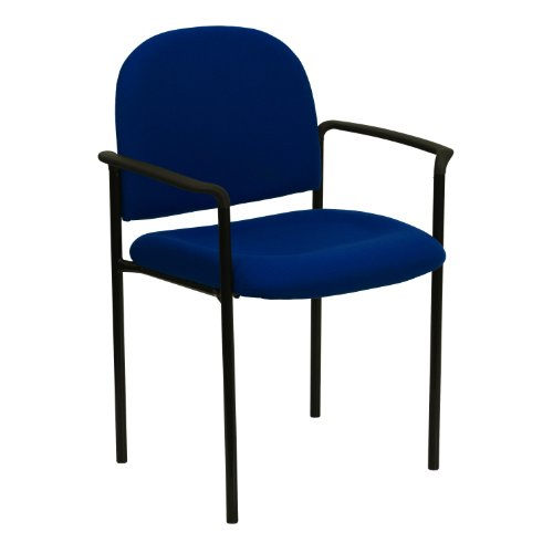 Fabric Comfortable Stackable Steel - MFO Navy Fabric Comfortable Stackable Steel Side Chair with Arms