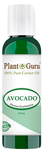 Avocado Oil 2 oz Cold Pressed Carrier 100% Pure Natural Skin, Face, and Hair Growth Moisturizer. Perfect For DYI Creams, Lotions, Lip balm and Soap Making.