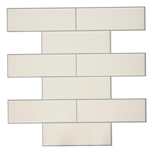 RoomMates Classic Subway Peel and Stick Tile Backsplash, 4-pack 10.5'' X 10.5'' by RoomMates