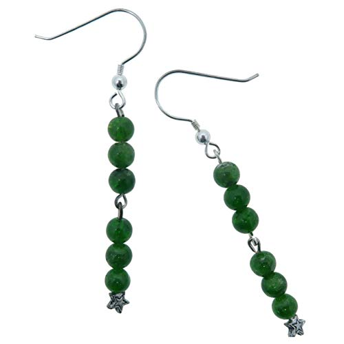 (SatinCrystals Diopside Earrings 2.5