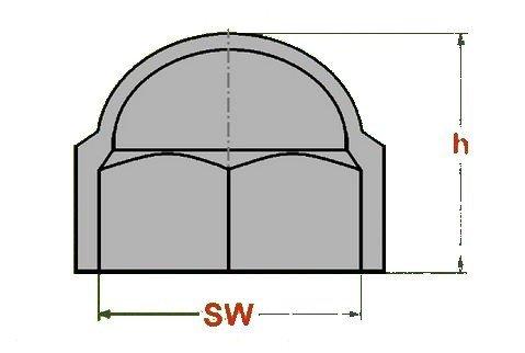 Schl/üsselweite 30 mm 10 St/ück Sechskant Schutzkappe M20 Abdeckkappe Farbe schwarz