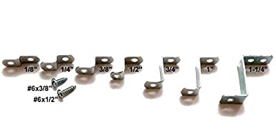 "1/8"" offset mounting canvas Z clips for picture framing -- #6 x 3/8"" pan-head screws included -- 144 bulk pack!"