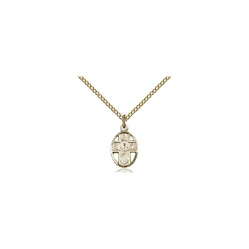 DiamondJewelryNY Religious Medal, 14kt Gold Filled 5-Way/Chalice Pendant ()