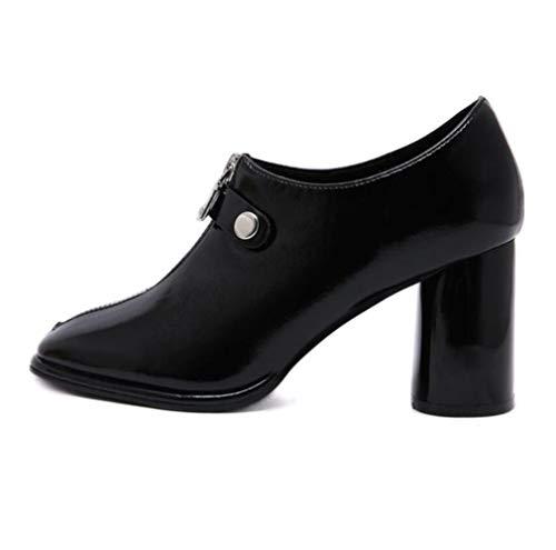 Shiney Artificiel Beige Rétro Talon Femmes Chunky Uniques Artificielles Confortables Chaussures 77rqF1f6c