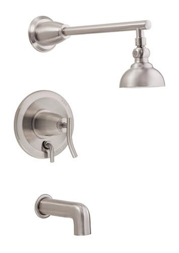 Danze D504054BN Sonora Single-Handle Tub and Shower Faucet, Brushed Nickel