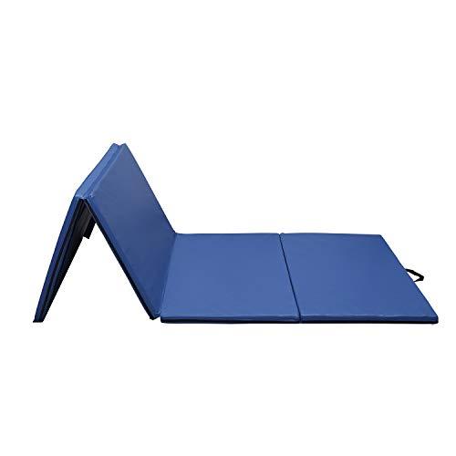 4'x10'x2 Folding Gymnastics Mat Thick Panel,Stretching Yoga Mat Tumbling Exercise Martial Arts,Stretching,Tumbling