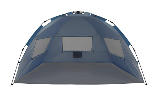 ALPHA CAMP Beach Tent Easy Up 2 Person Sun Shelter - 8.5' x 4.5' Navy Blue
