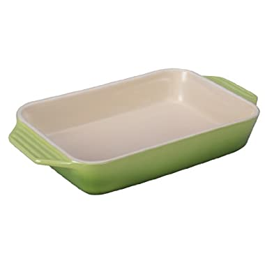 Le Creuset Stoneware Rectangular Dish, 12.5-Inch by 8.25-Inch, Palm