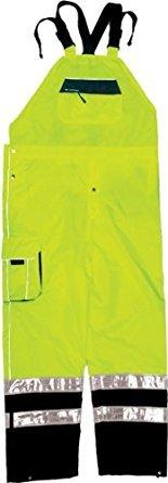 ML Kishigo RWB106 Brilliant Series Rainwear Bib, Fits 2X-Large and 3X-Large, Lime