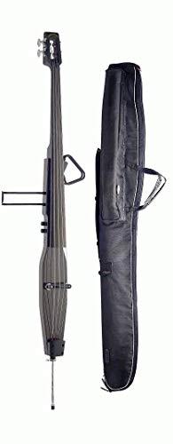 (Lucky Penny Model EDB-DBR Brown 3/4 Size Electric Upright Double Bass w/Gig Bag)