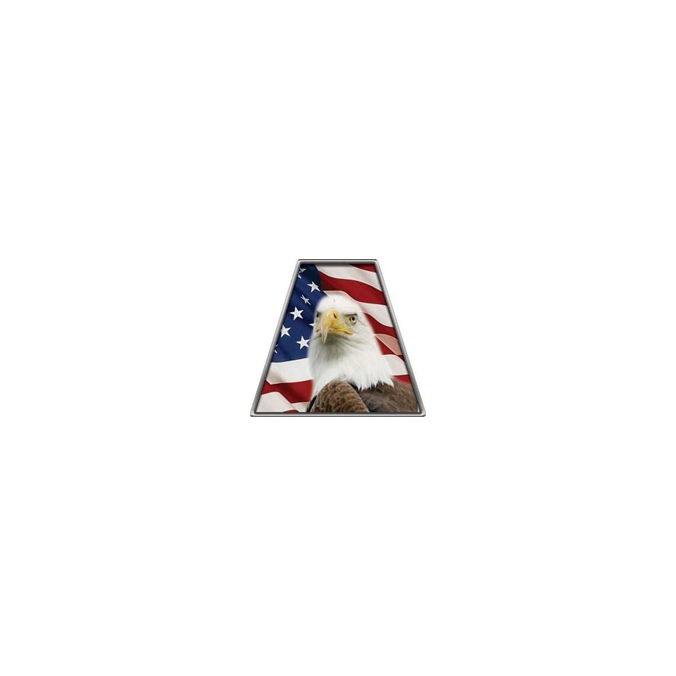 American Flag Eagle Reflective Firefighter Fire Helmet Tetrahedrons   Set of 8