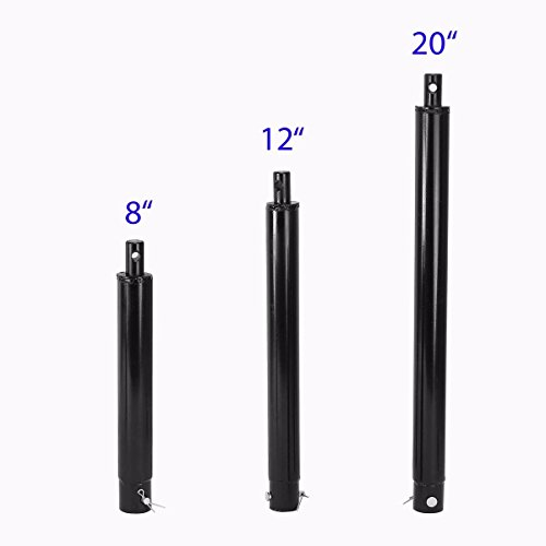 SoB Post Hole Digger Auger Bit Extensions Compatible to 3/4 Shaft w/8'' 12'' & 20'' by SoB