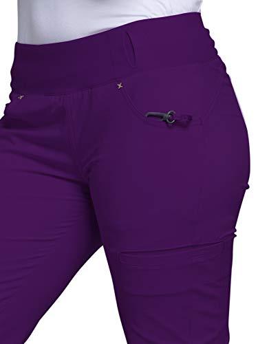 Cherokee iflex Women\'s Mid Rise Straight Leg Pull On Scrub Pant