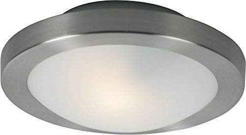 ET2 E20531-09 Piccolo 1-Light Flush/Wall Sconce, Satin Nickel Finish, Frost White Glass, G9 Frost Xenon Bulb, 3W Max., Dry Safety Rated, 2900K Color Temp., Low-Voltage Electronic Dimmer, Glass Shade Material, 750 Rated Lumens (Sconce Hunter Polished)
