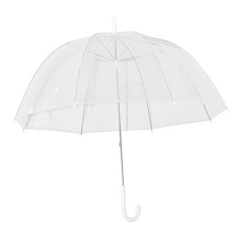 Home-X - Clear Bubble Umbrella, Durable Wind-Resistant Umbrella with Sturdy Bubble Design that Wont Flip Inside Out, For Men and Women of All Ages