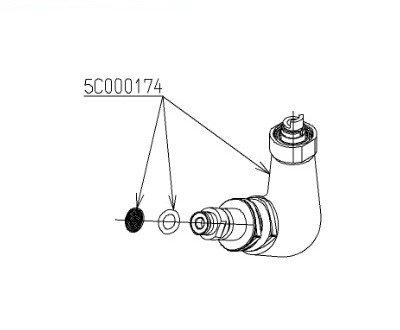 ■[TH5C0174]TOTO シャワー継手ユニット(旧品番:5C000174) B07CSG1ZVM