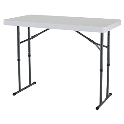 Lifetime 4-Foot Adjustable Height Folding Table