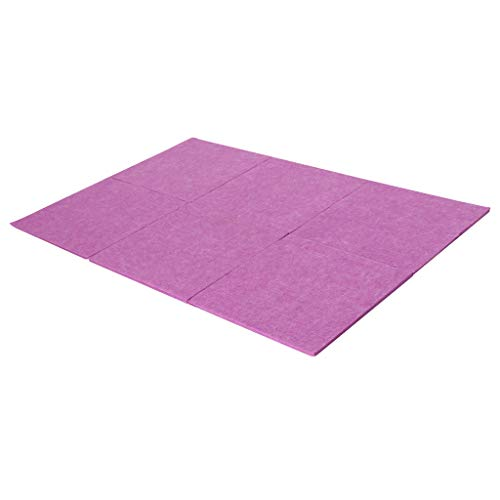Baosity 6pcs Soundproofing Acoustic Foam Panel Polyester Fiber for Studio KTV Sound Isolation - Purple