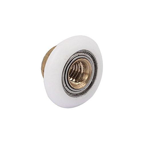 Aexit 19mm x Material Handling 5mm x 10mm Metric Thread Sliding Shower Door Oval Edge Snatch Blocks Roller Wheel