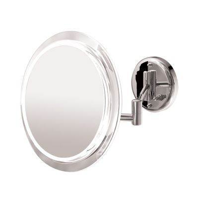 Zadro Wall Mount Surround Light with 100 Watt Fluorescent Bulb and 5X Magnification In Satin Nickel, Satin Nickel Finish, 9 Inch