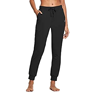 BALEAF Women's Cotton Sweatpants Lightweight Joggers Pants Tapered Active Yoga Lounge Casual Pants with Pockets