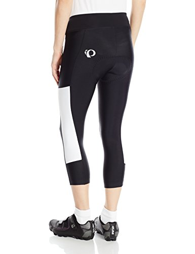 Pearl iZUMi Women's Escape Sugar CYC 3 Quarter Tights, Black/White, X-Small by Pearl iZUMi (Image #2)