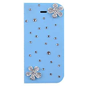 JOE Pearl Covered Flower Design Full Body Case for iPhone 5/5S(Assorted Color) , Rose