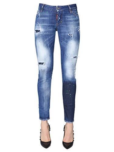 S75lb0091s30342470 Dsquared2 Donna Jeans Blu Cotone SaaRBq