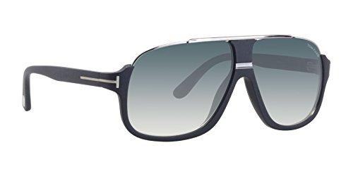 Silver Tom Ford Sunglasses - Tom Ford Tf 335 Eliott Matte Black/Silver Frame/Gray Lens 60Mm