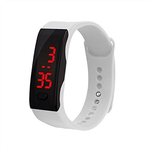 - WoCoo Sports bracelet 3,LED Digital Display Wristwatch with Silicone Strap for Children,Parent,Sport Lover(White,for Sports lover)