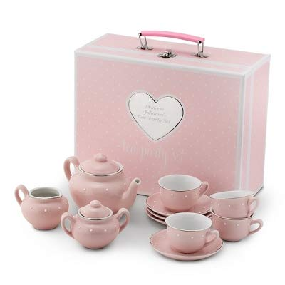 Things Remembered Personalized Kids Porcelain Tea Set with Carry Case with Engraving Included
