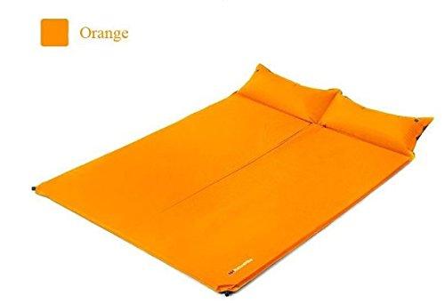 nh19q005-d自動エアクッションアウトドアダブルキャンピングマット防湿パッドThickening Widened Sleeping Pad B01ICWWFLE  オレンジ