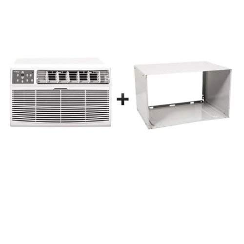 (Koldfront WTC12002WCO115VSLV White 12,000 BTU 115 Volt Through-The-Wall Air Conditioner and Wall Sleeve with Dehumidifier and Remote Control)