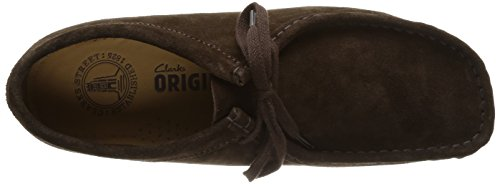 Clarks Brown Marrone dark Suede Wallabee Uomo Mocassini Originals 11FAr