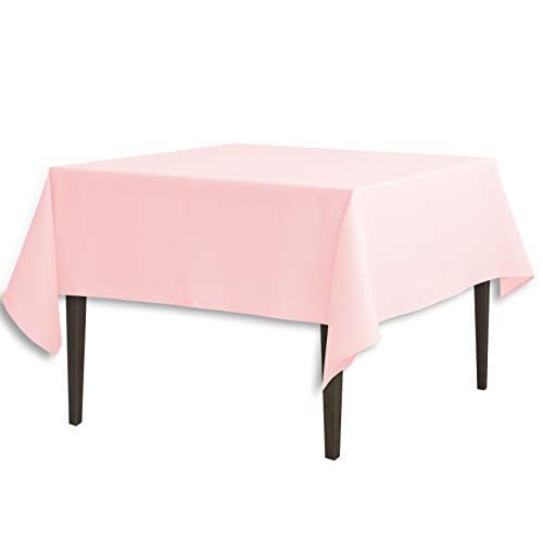 - LinenTablecloth 70-Inch Square Polyester Tablecloth Pink