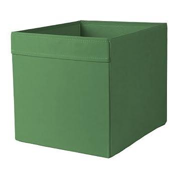 Ikea Dröna - Caja - Estante Estantería Uso en 33 x 38 x 33 (Alto) - Color Verde Oscuro: Amazon.es: Hogar