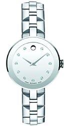 Movado Women's 0606814 Sapphire Analog Display Swiss Quartz Silver Watch