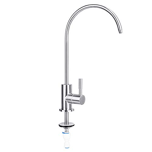 - Water Faucet, Lead-Free Beverage Faucet Water Filtration System Purifier filter Drinking Water Faucet, 1/4-Inch Tube, Brushed Stainless Steel,By E-Starlet