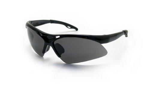 SAS Safety 540-0201 Diamondback Eyewear with Polybag, Shade Lens/Black - 2015 Z87 1 Ansi