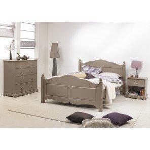 Schönen Möbel nicht Liebe–Zimmer taupe Bett 140+ Kommode + Nachttisch